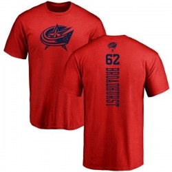 Men's Alex Broadhurst Columbus Blue Jackets One Color Backer T-Shirt - Red