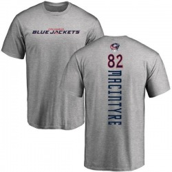 Men's Bobby MacIntyre Columbus Blue Jackets Backer T-Shirt - Ash