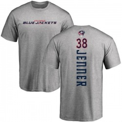 Men's Boone Jenner Columbus Blue Jackets Backer T-Shirt - Ash