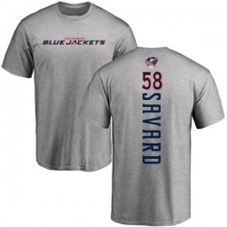 Men's David Savard Columbus Blue Jackets Backer T-Shirt - Ash