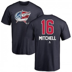 Men's John Mitchell Columbus Blue Jackets Name and Number Banner Wave T-Shirt - Navy