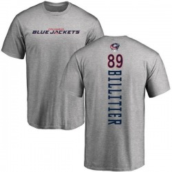 Men's Nathan Billitier Columbus Blue Jackets Backer T-Shirt - Ash