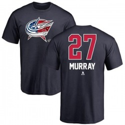 Men's Ryan Murray Columbus Blue Jackets Name and Number Banner Wave T-Shirt - Navy