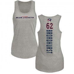 Women's Alex Broadhurst Columbus Blue Jackets Backer Tri-Blend Tank Top - Ash