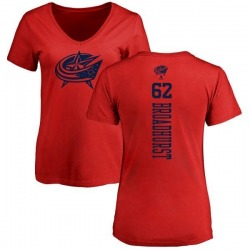 Women's Alex Broadhurst Columbus Blue Jackets One Color Backer T-Shirt - Red