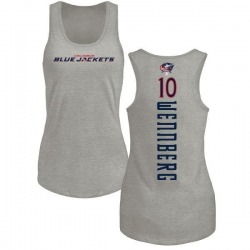 Women's Alexander Wennberg Columbus Blue Jackets Backer Tri-Blend Tank Top - Ash