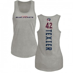 Women's Alexandre Texier Columbus Blue Jackets Backer Tri-Blend Tank Top - Ash