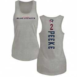 Women's Andrew Peeke Columbus Blue Jackets Backer Tri-Blend Tank Top - Ash