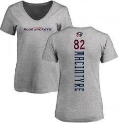 Women's Bobby MacIntyre Columbus Blue Jackets Backer T-Shirt - Ash
