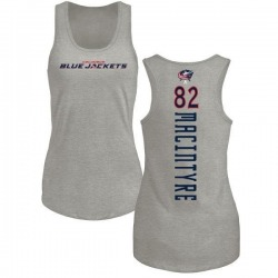 Women's Bobby MacIntyre Columbus Blue Jackets Backer Tri-Blend Tank Top - Ash