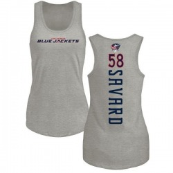 Women's David Savard Columbus Blue Jackets Backer Tri-Blend Tank Top - Ash