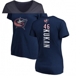 Women's Dean Kukan Columbus Blue Jackets Backer T-Shirt - Navy