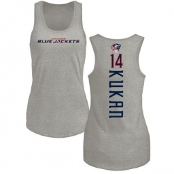 Women's Dean Kukan Columbus Blue Jackets Backer Tri-Blend Tank Top - Ash