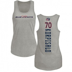 Women's Joonas Korpisalo Columbus Blue Jackets Backer Tri-Blend Tank Top - Ash