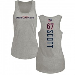 Women's Justin Scott Columbus Blue Jackets Backer Tri-Blend Tank Top - Ash