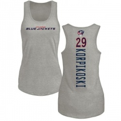 Women's Lauri Korpikoski Columbus Blue Jackets Backer Tri-Blend Tank Top - Ash