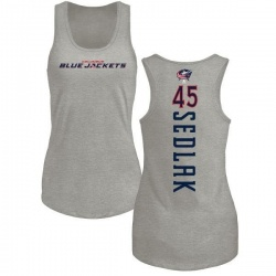 Women's Lukas Sedlak Columbus Blue Jackets Backer Tri-Blend Tank Top - Ash
