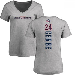 Women's Nathan Gerbe Columbus Blue Jackets Backer T-Shirt - Ash