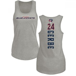 Women's Nathan Gerbe Columbus Blue Jackets Backer Tri-Blend Tank Top - Ash
