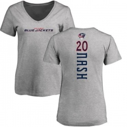 Women's Riley Nash Columbus Blue Jackets Backer T-Shirt - Ash