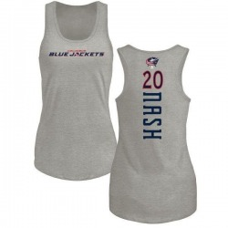 Women's Riley Nash Columbus Blue Jackets Backer Tri-Blend Tank Top - Ash