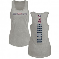 Women's Scott Harrington Columbus Blue Jackets Backer Tri-Blend Tank Top - Ash