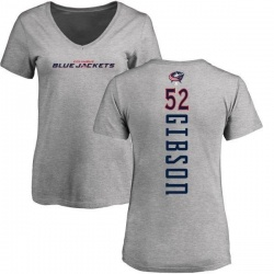 Women's Stephen Gibson Columbus Blue Jackets Backer T-Shirt - Ash