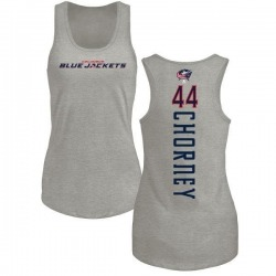 Women's Taylor Chorney Columbus Blue Jackets Backer Tri-Blend Tank Top - Ash