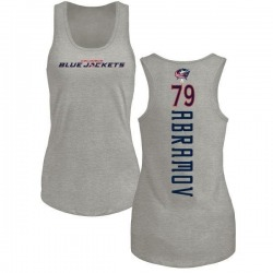 Women's Vitaly Abramov Columbus Blue Jackets Backer Tri-Blend Tank Top - Ash