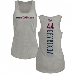 Women's Vladislav Gavrikov Columbus Blue Jackets Backer Tri-Blend Tank Top - Ash