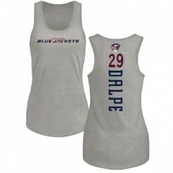 Women's Zac Dalpe Columbus Blue Jackets Backer Tri-Blend Tank Top - Ash