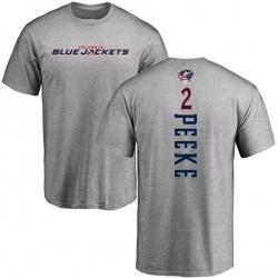 Youth Andrew Peeke Columbus Blue Jackets Backer T-Shirt - Ash