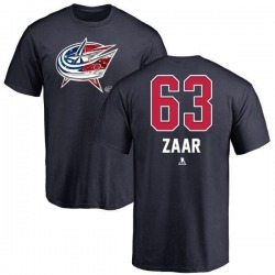 Youth Daniel Zaar Columbus Blue Jackets Name and Number Banner Wave T-Shirt - Navy