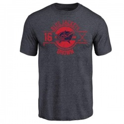 Youth Mike Brown Columbus Blue Jackets Insignia Tri-Blend T-Shirt - Navy