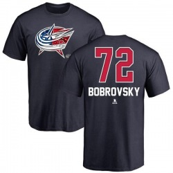 Youth Sergei Bobrovsky Columbus Blue Jackets Name and Number Banner Wave T-Shirt - Navy