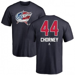 Youth Taylor Chorney Columbus Blue Jackets Name and Number Banner Wave T-Shirt - Navy
