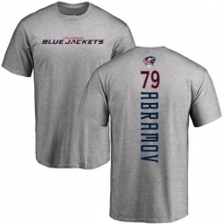 Youth Vitaly Abramov Columbus Blue Jackets Backer T-Shirt - Ash